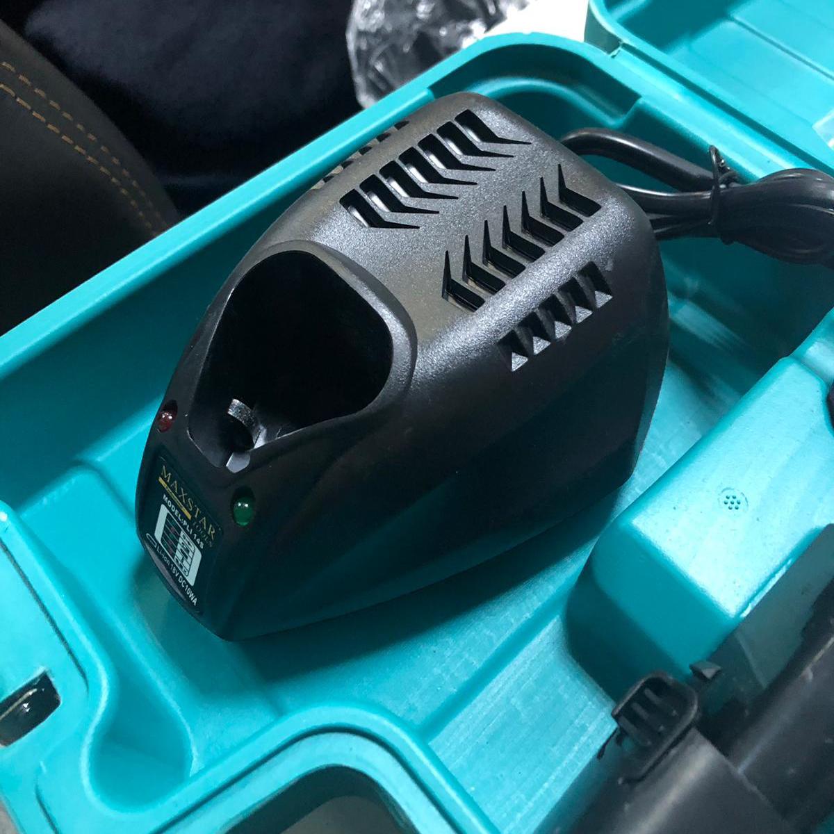 18v akülü vidalama darbesiz matkap şarjlı çift batarya mavi_1