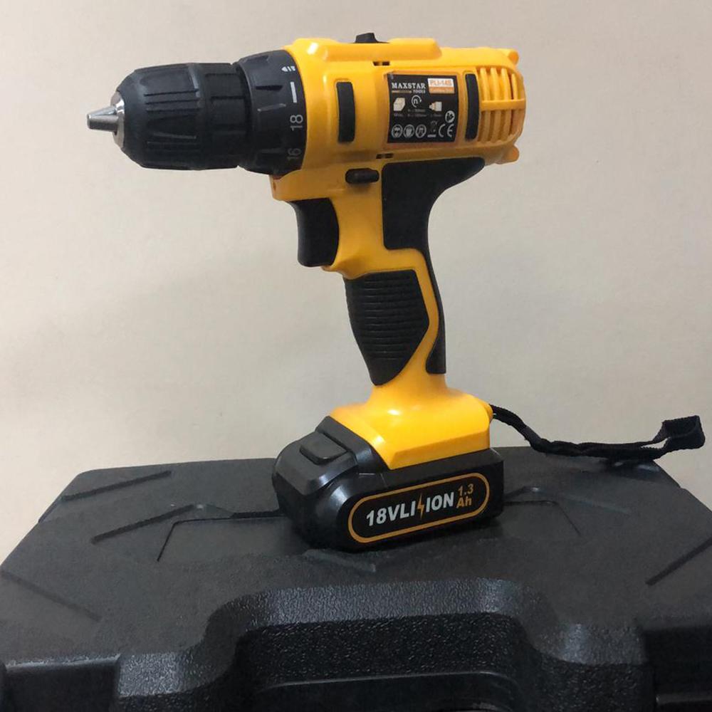 18v akülü vidalama darbesiz matkap şarjlı çift batarya sarı